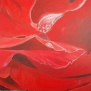 Larmes de fleur Acrylique 50x50cm