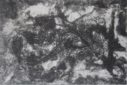 Mémoire Brouillée Carborundum 20x30cm