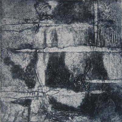 Mémoire froissée Carborundum 20x20cm