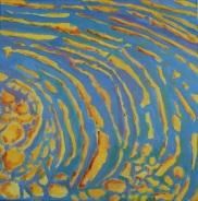 Rythme d'eau 1 Acrylique 40x40cm