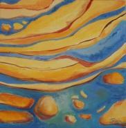 Rythme d'eau 2 Acrylique 40x40cm