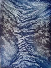 Traces du temps Crayon lytho et aquatinte encadrée 30x40cm